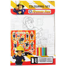 fireman sam colouring set by anon children u0027s colouring books at
