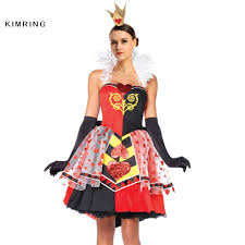 online get cheap wonderland red heart queen costume aliexpress