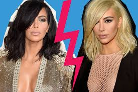 hairstyle makeovers before and after kim kardashian and the most dramatic celebrity hair color