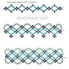 beading bracelet patterns images Free pattern for bracelet santorini beads magic jpg