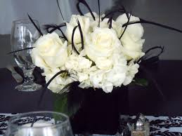 black and white centerpieces black and white wedding floral black and white floral