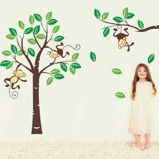 amazon com cute monkey climbing on beautiful tree monkey wall amazon com cute monkey climbing on beautiful tree monkey wall decal nursery wall decal baby