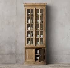 restoration hardware china cabinet french casement double door sideboard hutch