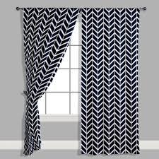 Grey Herringbone Curtains Navy Herringbone Curtain Panel Modified Tot