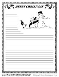 new free printable christmas writing paper stationary within