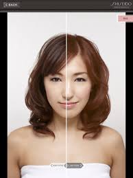 hair color simulator shiseidoprofessional hair color simulator on the app store