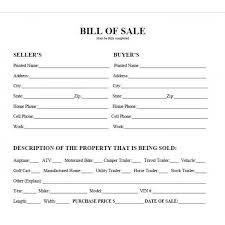 Sle Bill Of Sale For Automobile by Auto Sales Contract Printable Sle Auto Bill Of Sale Form 892
