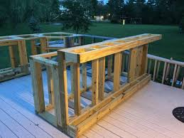 Backyard Bar Ideas A Boring Deck Or A Cool Outdoor Kitchen Decking Footrest And