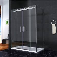 luxury double sliding shower door enclosure glass screen side
