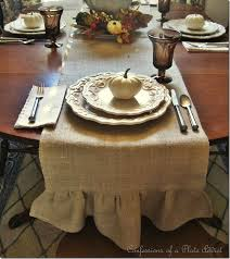 make your own ruffled burlap table runner tutorials from