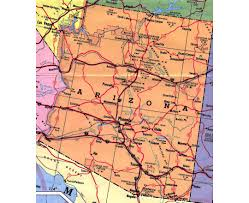 Usa Highway Map Arizona State Maps Usa Maps Of Arizona Az Reference Map Of