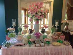 Pink And White Candy Buffet by Pale Pink Green And White Wedding Candy Buffet With A Vintage