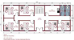 Floor Plan Of Office Building 214 M Prefab Modular Office Model Plans Details Karmod