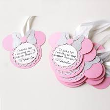 thank you tags personalized birthday favour tags custom minnie party gift tags
