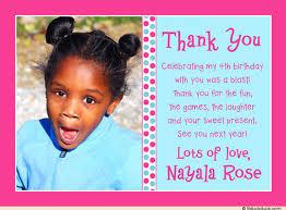 birthday thank you card dot thank you card 4th birthday s wording
