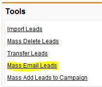 how to set up salesforce email templates for mass emails part 1