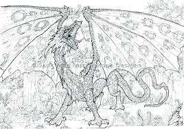 detailed coloring pages of dragons dragon coloring pages for adults detailed coloring pages detailed
