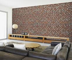 Wall Mural Wallpaper by Red Brick Effect Wallpaper