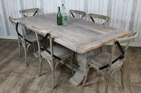 White Wash Table And Chairs White Washed Oak Dining Table Puebla Rustic Two Tone Dining