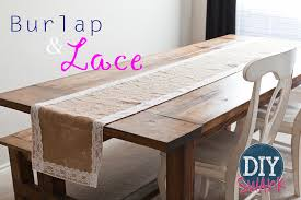 Burlap Lace Table Runner Diy Burlap And Lace Table Runner Tutorial Diy Swank