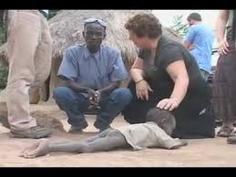 Poor African Kid Meme - sponsor a child shocking scene of three starving kids in africa