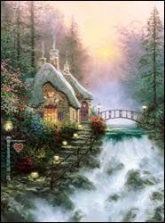 kinkade sweetheart cottage ii centered