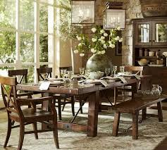 Graceful Dining Room Tables Pottery Barn Tivoli Fixed Pedestal - Pottery barn dining room set
