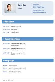 Word Resume Builder Best Word Resume Template