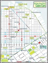 san francisco map cable car san francisco cable car railfan guide