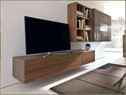 furniture brown wooden floating tv cabinets with doors and led tv
