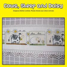 Daisy Kitchen Curtains by Country Curtains Country Style Curtains Sheep Cafe Curtains
