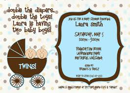 cute twin baby shower invitations home party theme ideas