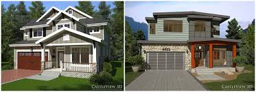 one craftsman home plans one home plan two styles castleview 3d
