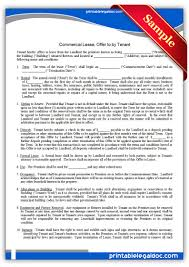 Business Lease Proposal Template Free Printable Commercial Lease Offer To By Tenant Sample
