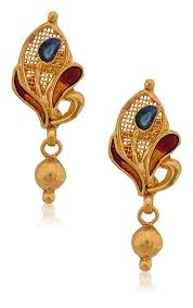 gold earrings online buy senco gold 22k yellow gold drop earrings online at low prices