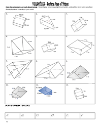 surface area of triangular and rectangular prisms practice