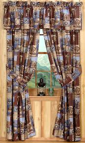 Rustic Curtains And Valances Western Rustic Curtains Drapes Valances Pillows Cabin Place