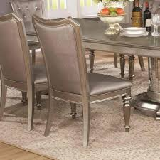 danette double pedestal dining table set in metallic platinum coaster danette double pedestal dining table set in metallic platinum