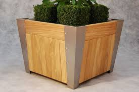 Square Metal Planter by Metal Planter Wooden Square Contemporary Dorley Street