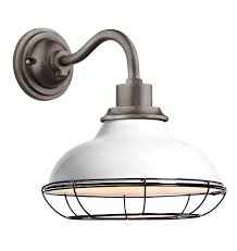 outdoor lighting portland oregon carson 12 wall sconce with cage gloss white gloss white a1883
