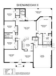 Open Kitchen Family Room Floor Plans The 4 Bedroom Shenandoah Ii Plan Offers Formal Dining And Living