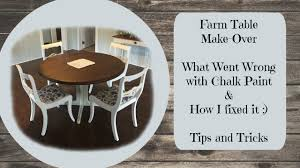 chalk paint farmhouse table farmhouse table makeover chalk paint what can go wrong and how to