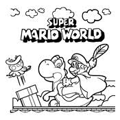 coloring pages mario bros luigi nintendo