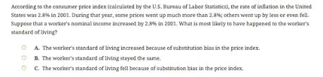 us bureau of labor statistics cpi solved according to the consumer price index calculated
