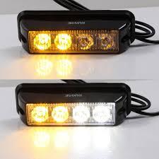strobe lights for car headlights 2 pcs rupse 12 24v 4 led strobe lights super bright high power car