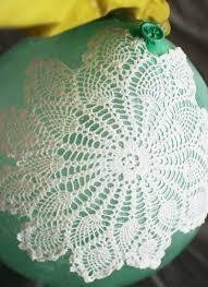 lace doily ball lamp