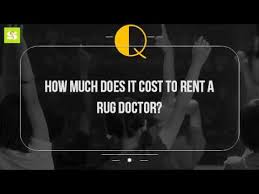 How Much For Rug Doctor Rental How Much Does It Cost To Rent A Rug Doctor Youtube