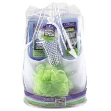 Bath And Shower Gift Sets 6pc Corlin Spa Gift Set Slippers Foot Lotion Bath Shower Gel Brush