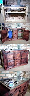 kitchen cabinets from pallet wood 80 ideas for wood pallet made kitchens inspirationalz