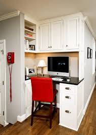 Kitchen Desk Design 57 Cool Small Home Office Ideas Digsdigs